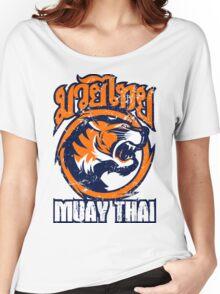 tiger sagat muay thai 4 thailand martial art Women's Relaxed Fit T-Shirt