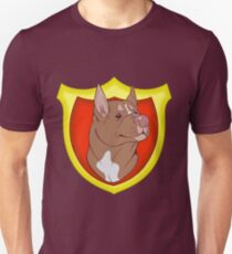 Pit Bull Pride- Red Point with Crest T-Shirt