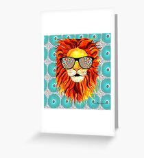 Hello Mr. Lion Greeting Card