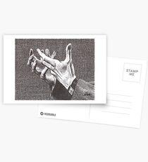 Pleading Hands Postcards