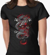 Asiatischer Drache Tailliertes T-Shirt für Frauen