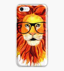 Monsieur Lion - For all my geeks out there iPhone Case/Skin