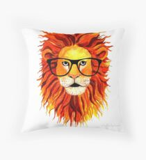 Monsieur Lion - For all my geeks out there Throw Pillow