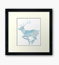 Geometric Ice Stag and Antlers  Framed Print