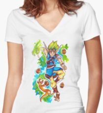Jak and Daxter - Precursor Legacy Women's Fitted V-Neck T-Shirt