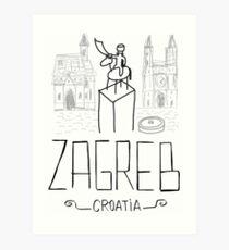 Íconos de Zagreb Art Print
