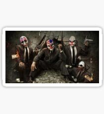PayDay Film Game Clowns Halloween Sticker