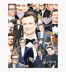 colin firth collage Photographic Print