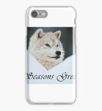 Arctic Wolf Seasons Card - 14 iPhone Case/Skin