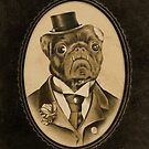 Vintage Pug Monster  by Zak Rutledge