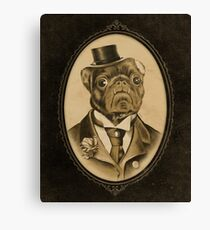 Vintage Pug Monster  Canvas Print