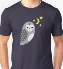 Grey Owl and Stars T-Shirt