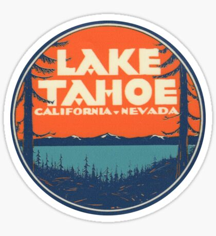 Lake Tahoe California Nevada Vintage State Travel Decal Sticker