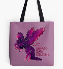 """Badass Ever Onwards"" Pegasus Tote Bag"
