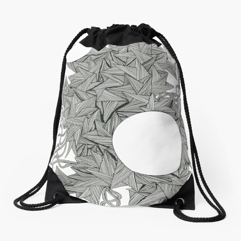 Black Pen Drawstring Bag