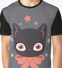 Pink Bow Kitty Graphic T-Shirt
