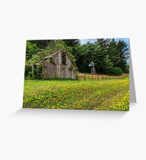 Windmill Flowers And A Barn Greeting Card