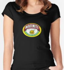 Marmite colour Women's Fitted Scoop T-Shirt