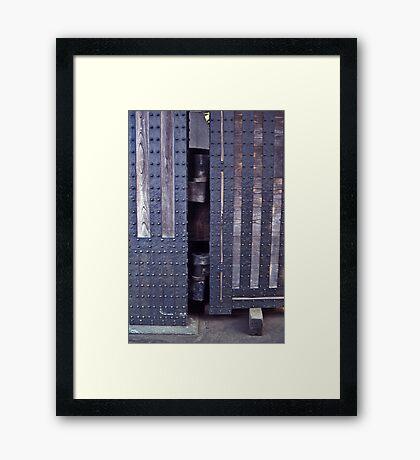 Medieval doors, Imperial Palace, Tokyo. Framed Print