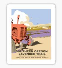 Applegate Lavender Trail Poster - 2016 Sticker