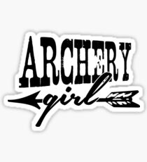 Archery Girl Sticker
