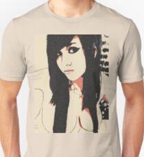 Sexy goth, brunette girl glamour posing, seducing, tease Unisex T-Shirt