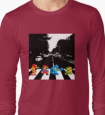 Nintendo Sprites on Abbey Road Long Sleeve T-Shirt
