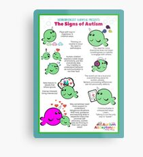 Signs of Autism Poster Metal Print