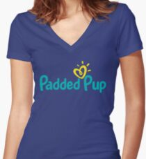 Padded Pup Women's Fitted V-Neck T-Shirt