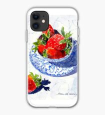 Three Strawberries iPhone Case