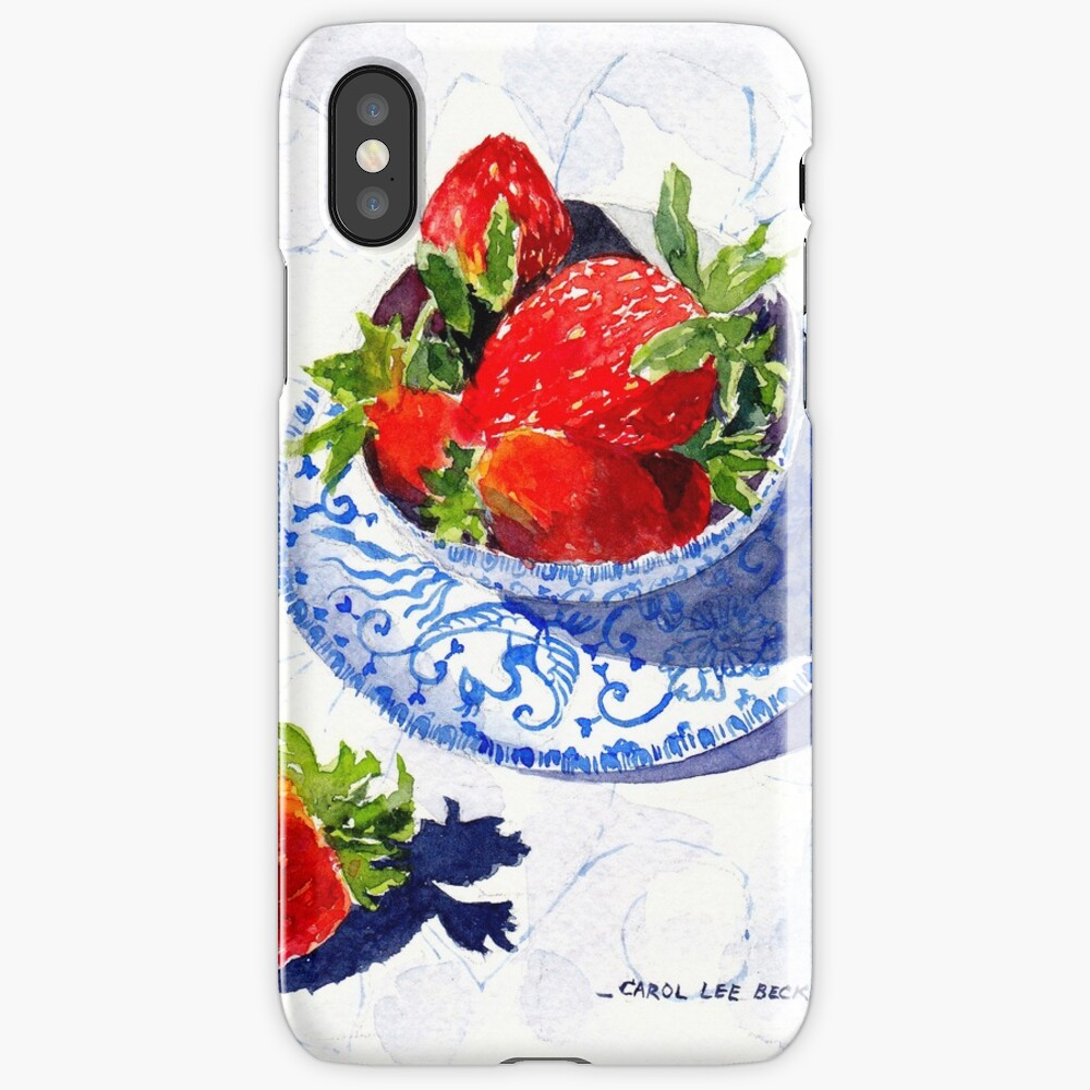 Three Strawberries iPhone Case & Cover