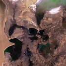 Amu Darya River Delta and South Aral Sea Satellite Image by Jim Plaxco