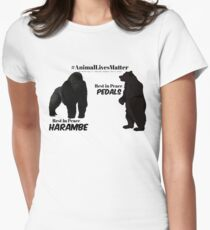Harambe & Pedals Women's Fitted T-Shirt