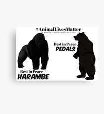 Harambe & Pedals Canvas Print
