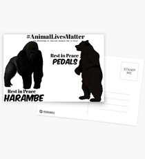 Harambe & Pedals Postcards