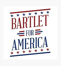 Bartlet For America 2 Photographic Print