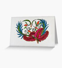 Hearts/1 - Feathers Greeting Card
