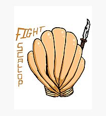 FIGHT SCALLOP Photographic Print