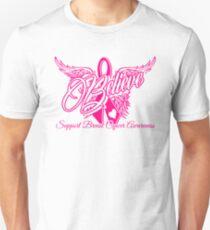 Believe Support Breast Cancer Awareness Tee Unisex T-Shirt