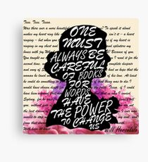 Words have the power to change us Canvas Print