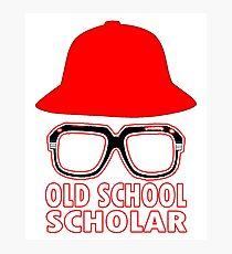 OLD SCHOOL SCHOLAR Photographic Print
