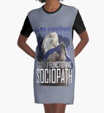 Otter Sherlock I'm a high functioning sociopath Graphic T-Shirt Dress