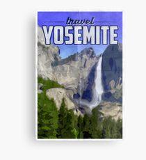 Travel Yosemite Vintage Travel Poster Metal Print