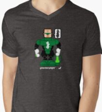 AFR Superheroes #08 - Green Lamplight Men's V-Neck T-Shirt