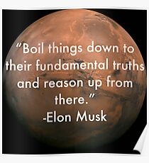 Elon Musk Fundamental Quote Poster