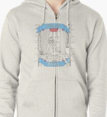 Ovaries in the Oval Zipped Hoodie