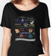 "Knitting Products ""I Will Knit with a Goat..."" Women's Relaxed Fit T-Shirt"