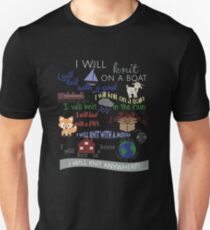 "Knitting Products ""I Will Knit with a Goat..."" T-Shirt"