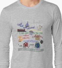 Knitting Products: I Will Knit on a Boat   Long Sleeve T-Shirt