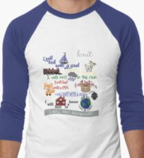 Knitting Products: I Will Knit on a Boat   Men's Baseball ¾ T-Shirt